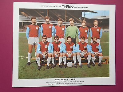 Typhoo Famous Football Clubs West Ham Series 2 1966 Very Good Condition