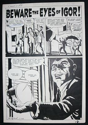 Tales of Suspense #11 Complete 5 Page Horror Story - 1960 art by Paul Reinman