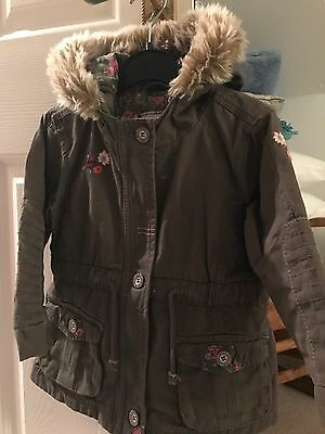Next Girls Green Parka Coat Jacket 18-24 Months