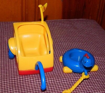 Caillou Replacement Toys Bicycle Pull Along Trailer & Dinosaur Float Toys lot GC