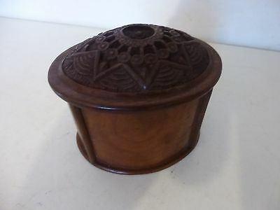Antique Vintage Hand Carved Oriental Chinese Asian Wooden Cigarette Box