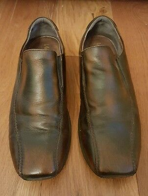 Men's brown leather shoes size 12