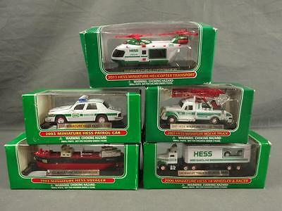 Hess MINI Truck Lot 2002 2003 2006 2007 2011 Helicopter Voyager Rescue Police