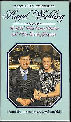 Prince Andrew Royal Wedding commemorative VHS video