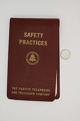 1945 PACIFIC TELEPHONE & TELEGRAPH CO. SAFETY PRACTICES for EMPLOYEES - VINTAGE