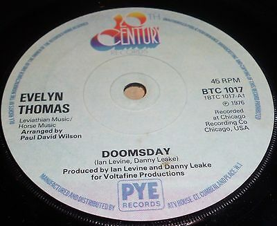 """Evelyn Thomas Doomsday / The Day After Doomsday  7"""" Vinyl"""