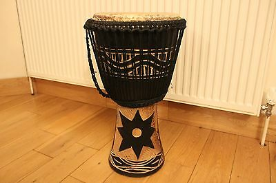Genuine African djembe drum and bag.