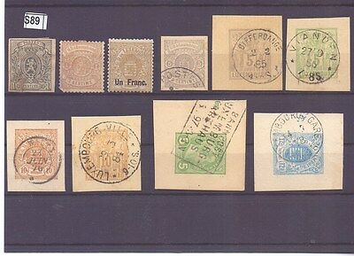 s89-Luxembourg Selection-Mint & Used inc. Classic issues & Cut-Outs