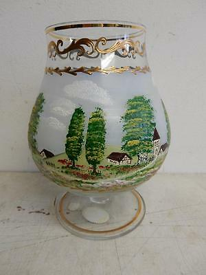 hand painting KRYF BOHEMIAN LARGE BRANDY GLASS
