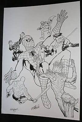 Guardians of the Galaxy #14 Cover - Venom vs Giant Spider-Man by Kevin Maguire