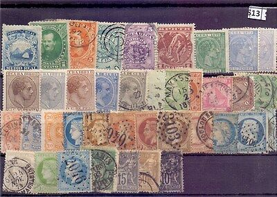 S13-World Collection Mint & Used inc. Spanish Antilles & Classic France