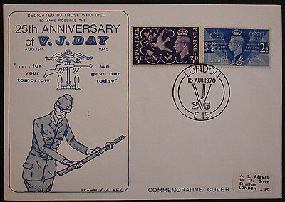 GB 1970 25th Anniversary of V. J. Day Illustrated Commemorative Cover