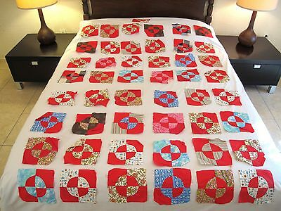 Lot of 49 Vintage All Cotton Hand Sewn ROB PETER TO PAY PAUL Quilt Blocks