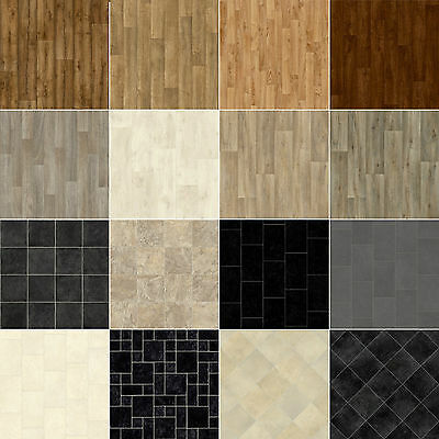 Cheap Offcut Vinyl Flooring Lino Anti-Slip Kitchen Bathroom CLEARANCE - CHEAP!
