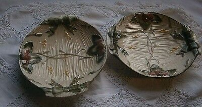 2 lovely dishes old  with diamond mark on the base  Masons ?