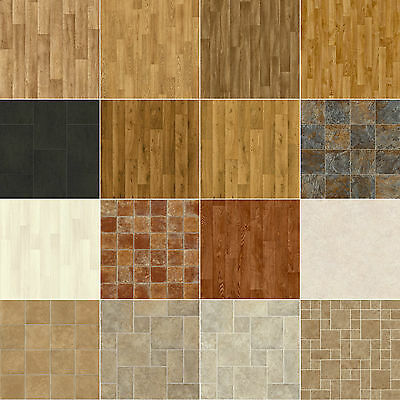 Vinyl Flooring Lino Anti-Slip Kitchen Bathroom 1m Offcuts  CLEARANCE - CHEAP!