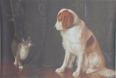 D12Q Poster Art Print Dog and Cat Printing Home Decor 16X24 Freeshipping