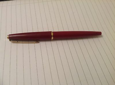 Parker maroon fountain pen,Made in England