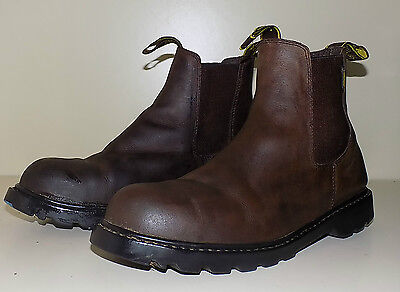 Brown Steel Toe Cap Leather Yard /Horse Riding Jodhpur Boots By Gallop Size 9