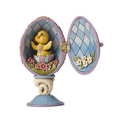 Jim Shore Easter Hinged Egg With Chick Inside New 2017 4056945
