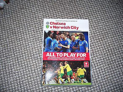 CHELSEA v NORWICH CITY FA YOUTH CUP FINAL PROGRAMME 2013