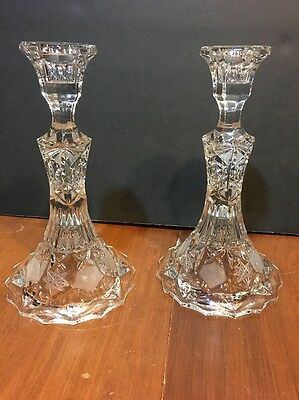 Cut Glass Crystal Candle Holders Candlesticks