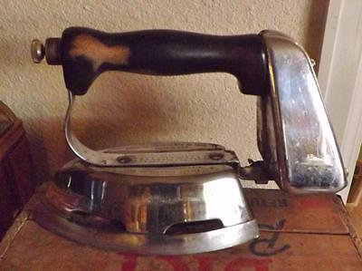 Vintage 1936 Quick Lighting Gasoline Iron with Filler Can Montgomery Ward