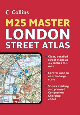 London M25 Master Street Atlas by Collins UK Hardback Book The Cheap Fast Free