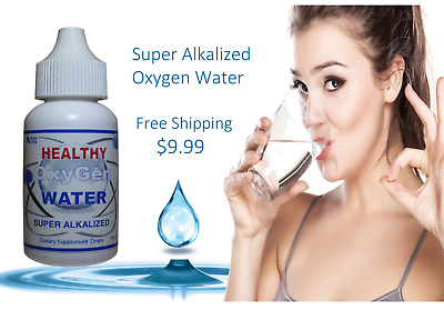 HEALTHY WATER Super Oxygen Alkalized Drinking Hydrates Your Cells Makes 9 Gallon