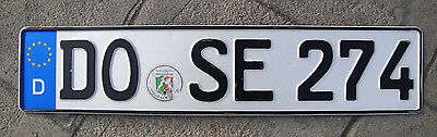 German License Plate / Germany Plate (front)  # DOSE 274