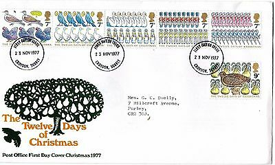 1977 12 Days Of Christmas Fdc From Collection 4C/01