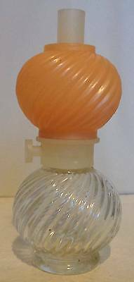 Vintage Avon Oil Lamp Glass Perfume Bottle 30ml Collectable/Empty/70s