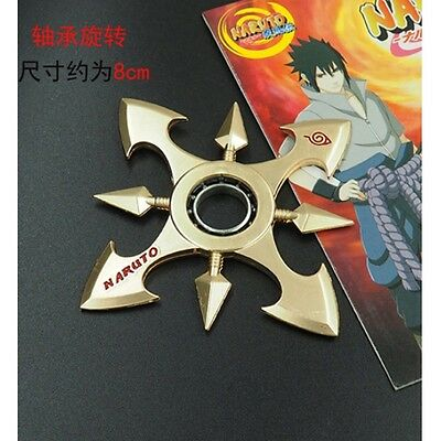 Large Japanese Uzumaki Naruto 8 Point Golden Blades Knife Star Ninja Shuriken
