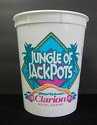 Clarion Hotel Casino 32 Ounce Drinking Cup Plastic Reno Nevada Defunct Closed