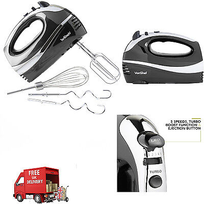 Hand Held Mixer 300W 5 Speed Food Electric Whisk Blender Beater Mixer