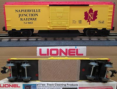 eSPee™ TRACK CLEANING BOX CAR - Lionel - NJ / Napierville Junction - O Scale
