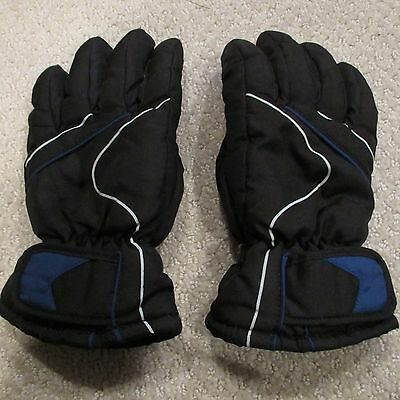 Boy's Black Gloves Size S/M Small / Medium - Polyester - Great for Snow Sports