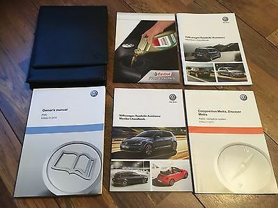 Rare Vw Volkswagen Polo  Handbook Owners Manual & Wallet Set 2014-2017 6C Mark 5