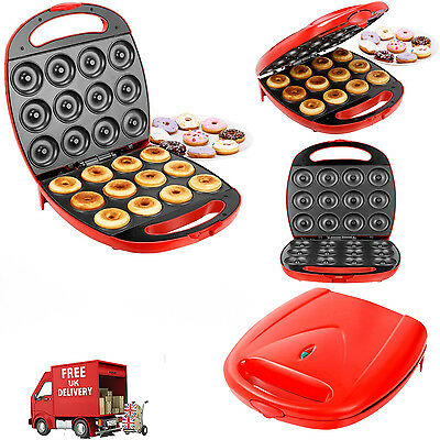 1400W Red Electric Doughnut Maker 12 Hole Donut Snack Machine