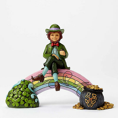 Jim Shore Heartwood~Leprechaun On Rainbow~Lucky You~St. Patricks Day~4051397