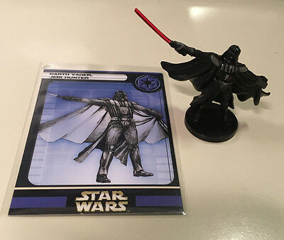 Darth Vader Jedi Hunter Star Wars Miniatures 37/60 With Card Free Shipping