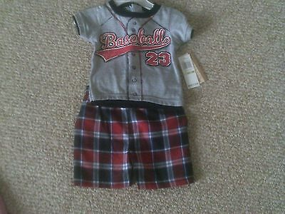 Baby Boy's Kids Headquarters Short Outfit Size 3/6 Months Nwt! $32.00!