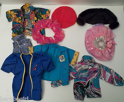 Assorted And Mixed Lot Of Doll Clothes Large Jackets Hats Tutu