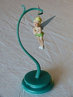 """Disney WDCC 1996 Tinker Bell Ornament Special Ed NIB Peter Pan & Stand MIB COAs"