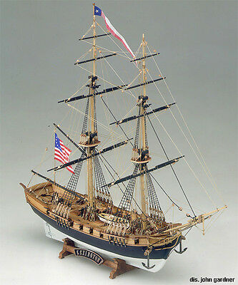 Intricate Detailed Wooden Model Ship Kit By Mamoli The