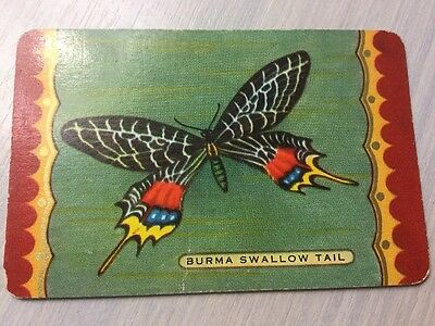 1 Coles Swap Playing Card Named Burma Swallowtail Butterfly