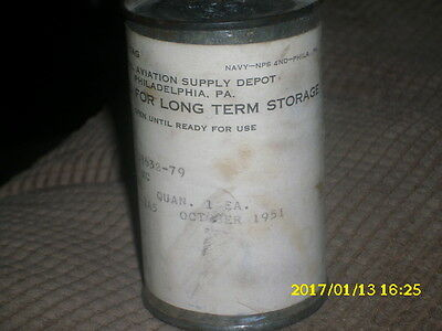 US Navy Crystal Tube for radio  old/new stock  1951
