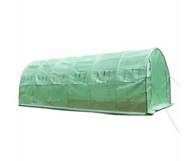 NEW 6x3m Sturdy Galvanised Steel Frame Garden Green House, Durable PE Mesh Cover