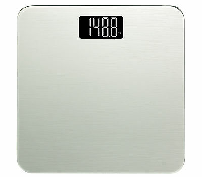 Smart Weigh Modern Digital Bathroom Scale in Tempered Glass 400lb/180k - Silver
