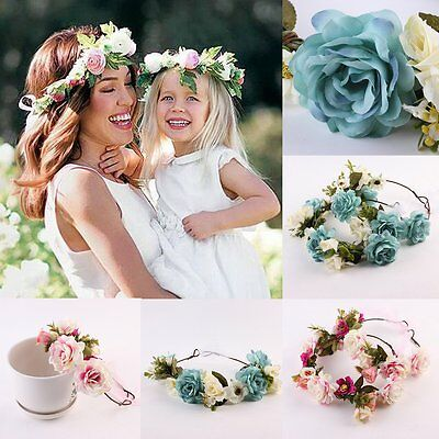 Womens Kids Girls Flower Floral Wedding Bridal Beach Crown Hair Headband Garland